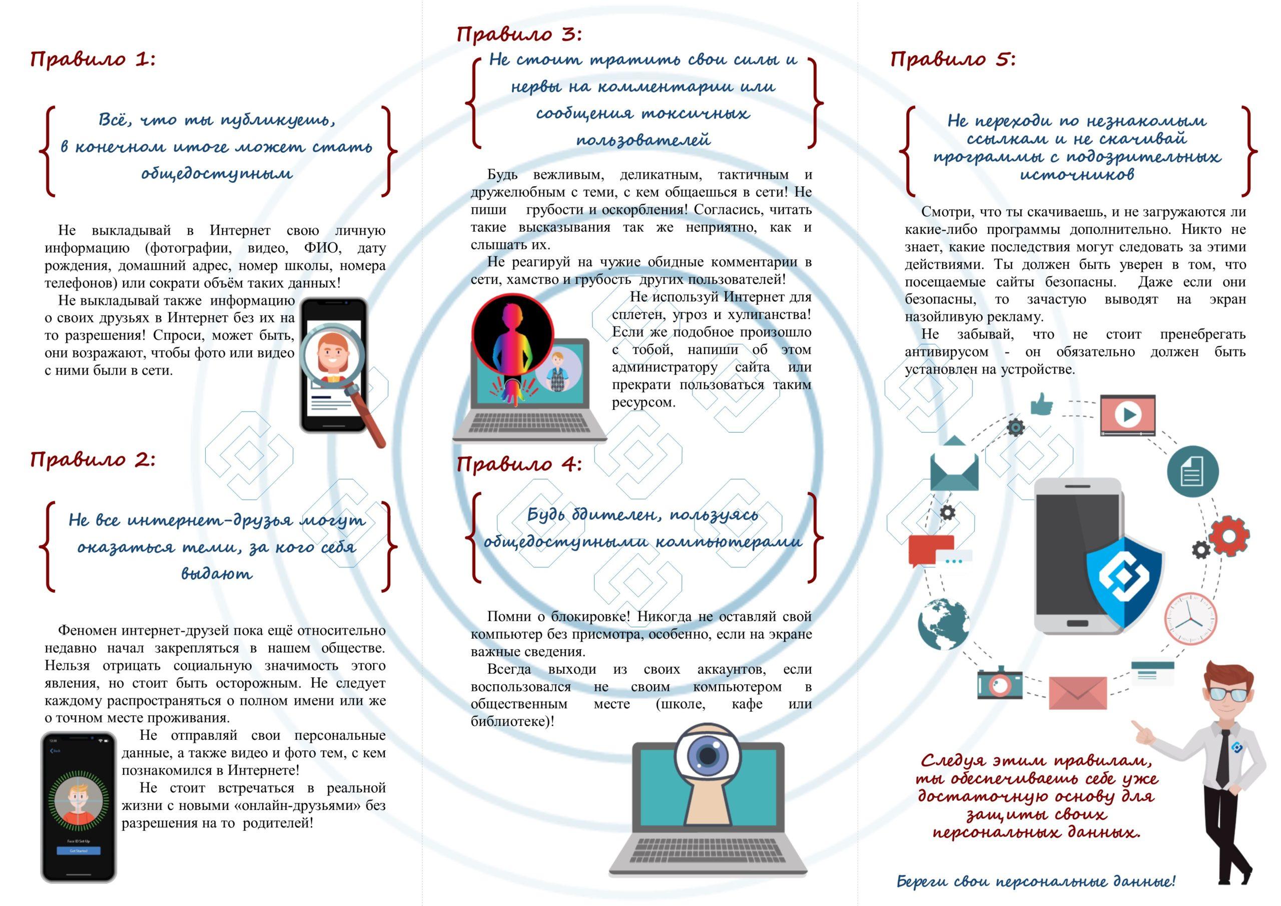 Памятка по защите персональных данных