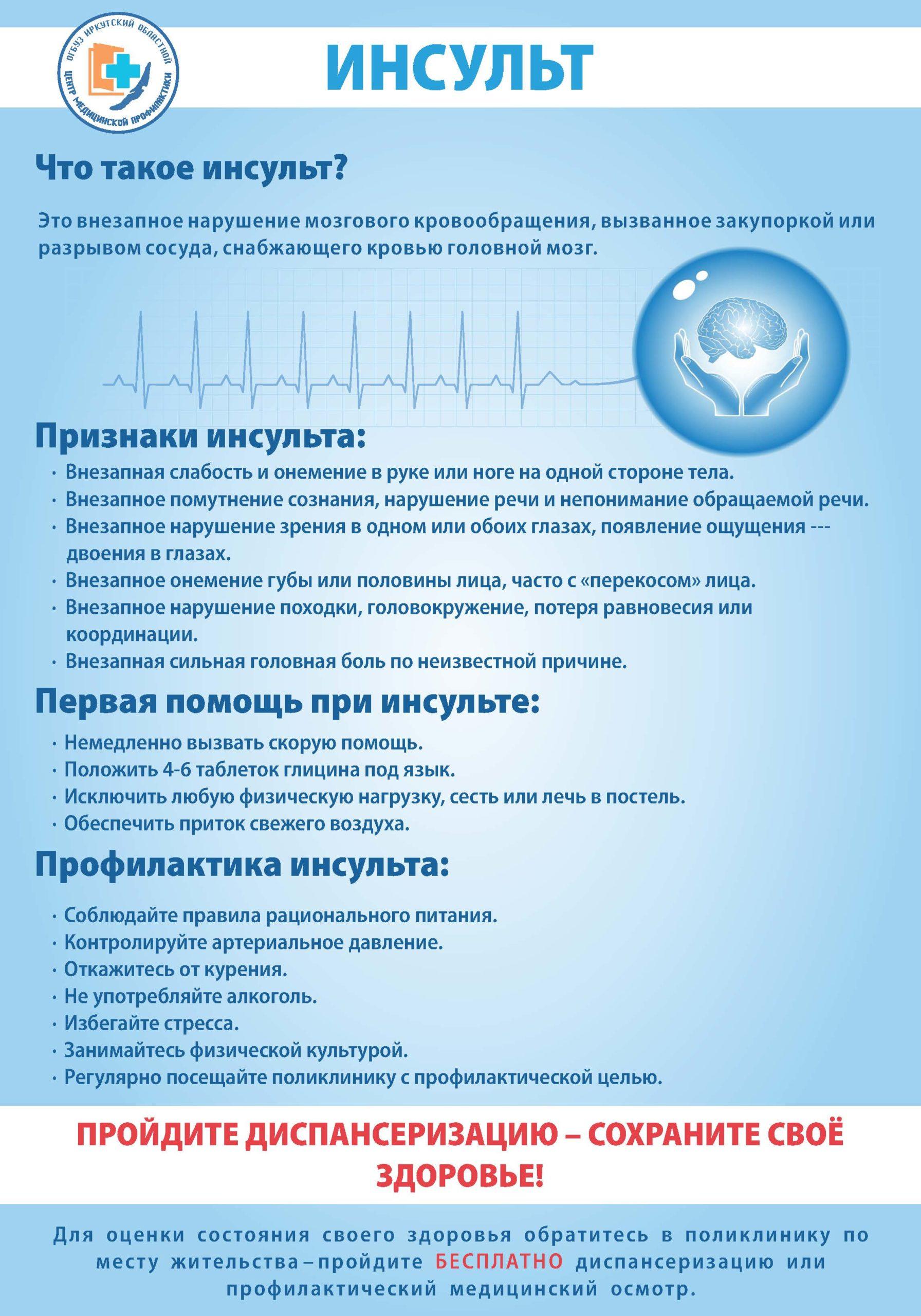Всемирный день борьбы с инсультом 29 октября 2020г.