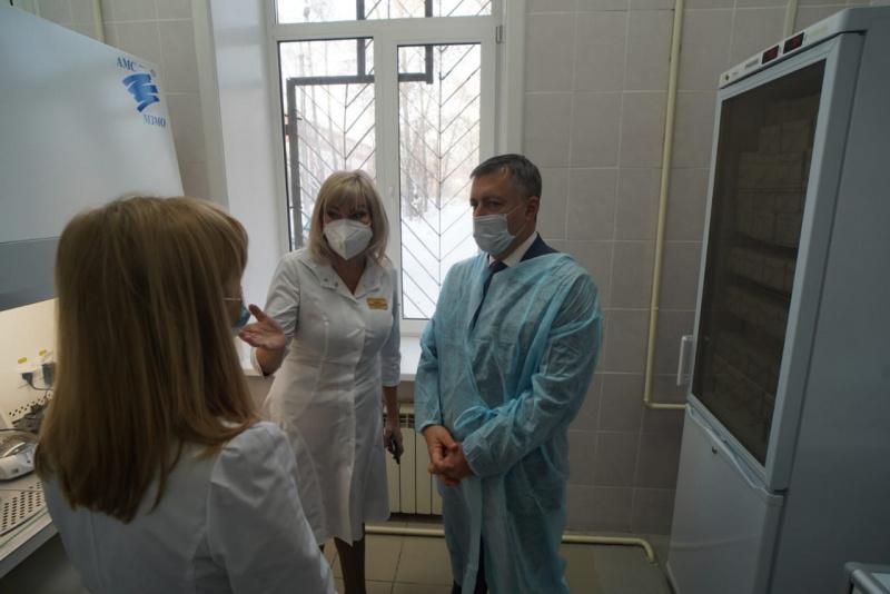 В Усолье-Сибирском открылась ПЦР-лаборатория для исследований тестов на COVID-19